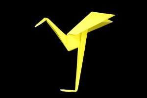 『サギ』の折り紙 折り方《鳥シリーズ》