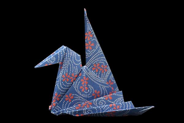 『鶴』の折り紙 折り方2《鳥シリーズ》