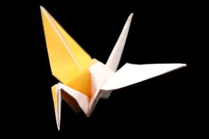 2色の『鶴』の折り紙 折り方《鳥シリーズ》