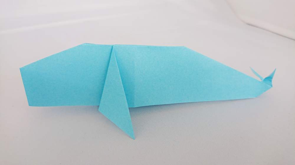 『くじらの折り紙』簡単な折り方・作り方