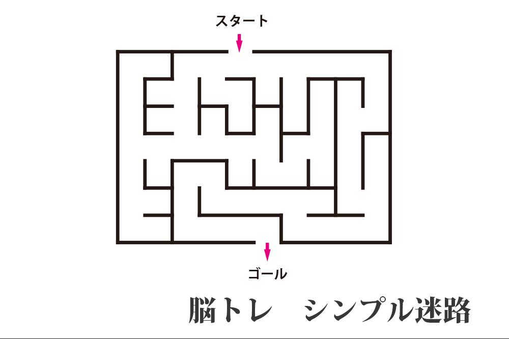 シンプル迷路5枚 無料プリント認知症予防の脳トレ