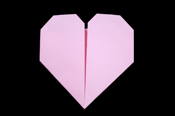 How To Make An Origami Heart - Folding Instructions - Origami Guide | 400x600