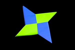 ninja star origami easy instructions