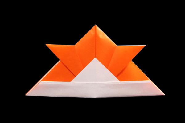 SAMURAI's Helmet   100 Easy origami instructions and diagram