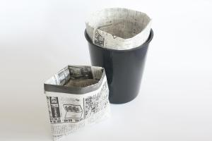 paper garbage bags   Easy origami instructions and diagram