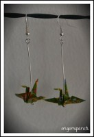 Pendeintes de grullas verdes pequeñas I
