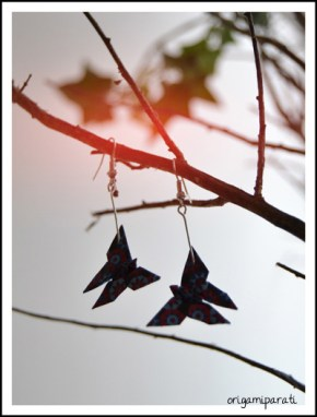 Pendientes de mariposas azules