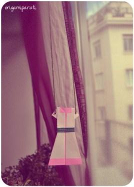 Vestido rosa y blanco