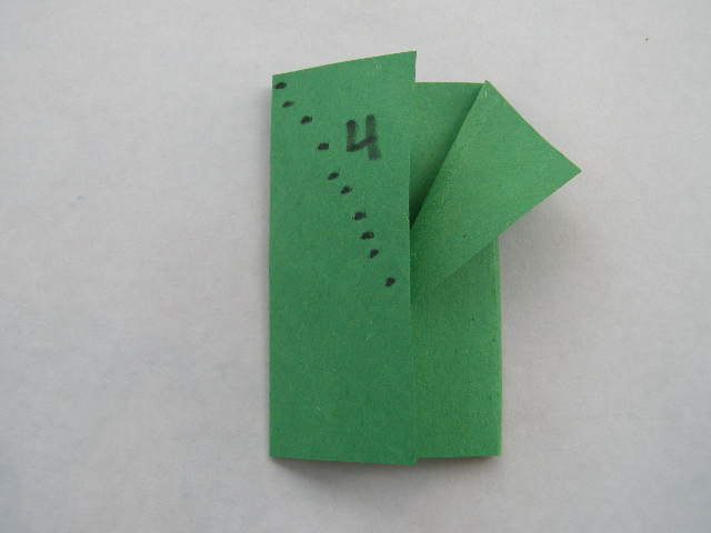 For Star Wars Day: World's Easiest Origami Yoda Finger Puppet- only 5 folds (4/6)