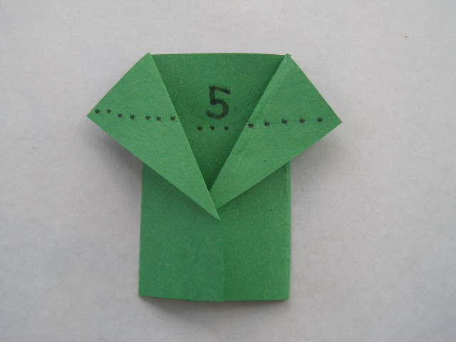 For Star Wars Day: World's Easiest Origami Yoda Finger Puppet- only 5 folds (5/6)