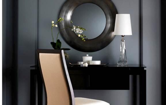 Mirror Behind Desk