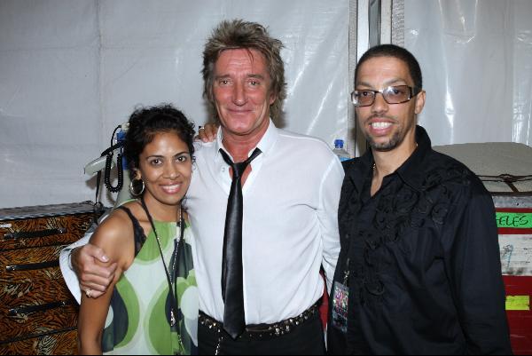 Indira LaRoda, Rod Steward and Barrett LaRoda