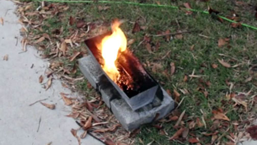 Burning Tar Log