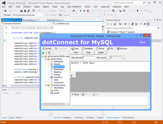 About dotConnect for MySQL