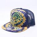注文 特注 別注 1点から製作 刺繍帽子 オリジナル刺繍 刺繍キャップ トラッカー trucker tie-dye タイダイ UV メッシュキャップ 夏用キャップ 海用キャップ レインボーキャップ ラスタ RASTA 虹色