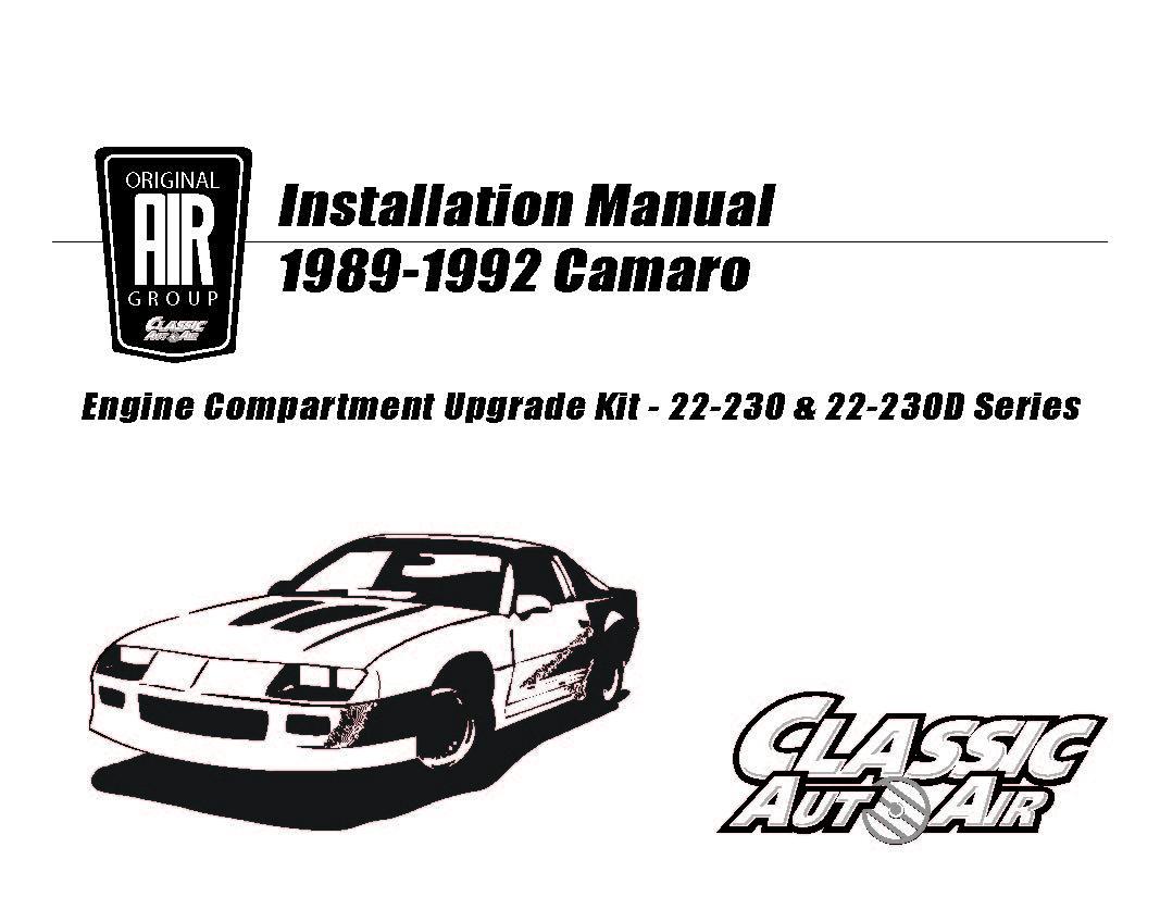 88 92 Camaro Firebird A C Performance Upgrade Kit V8 Stage