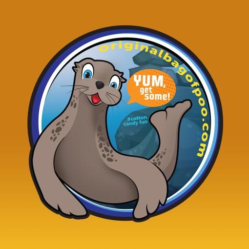 Sea Lion Sticker With Background