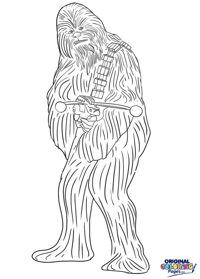 Chewbacca Star Wars Coloring Page  Coloring Pages - Original