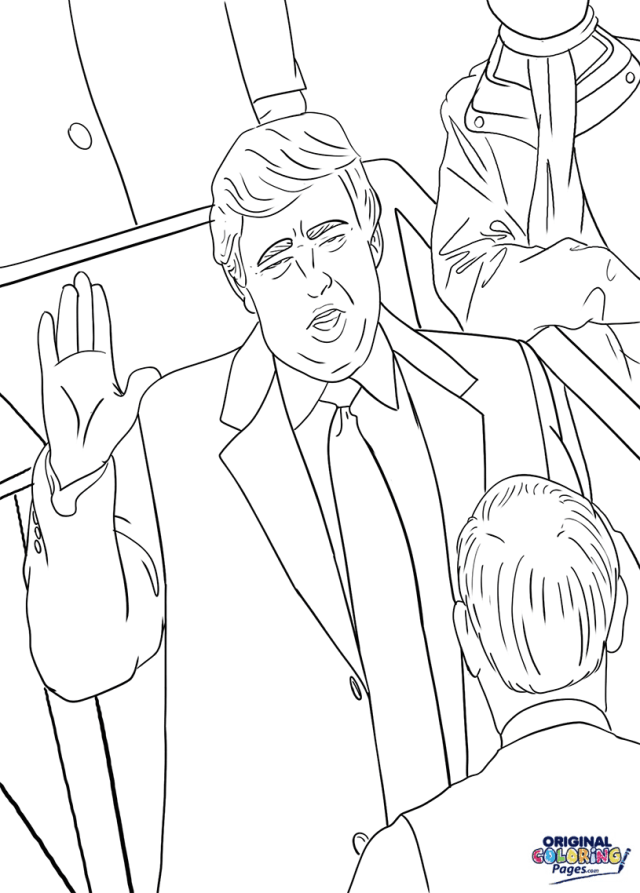 Donald Trump Inauguration Coloring Page  Coloring Pages