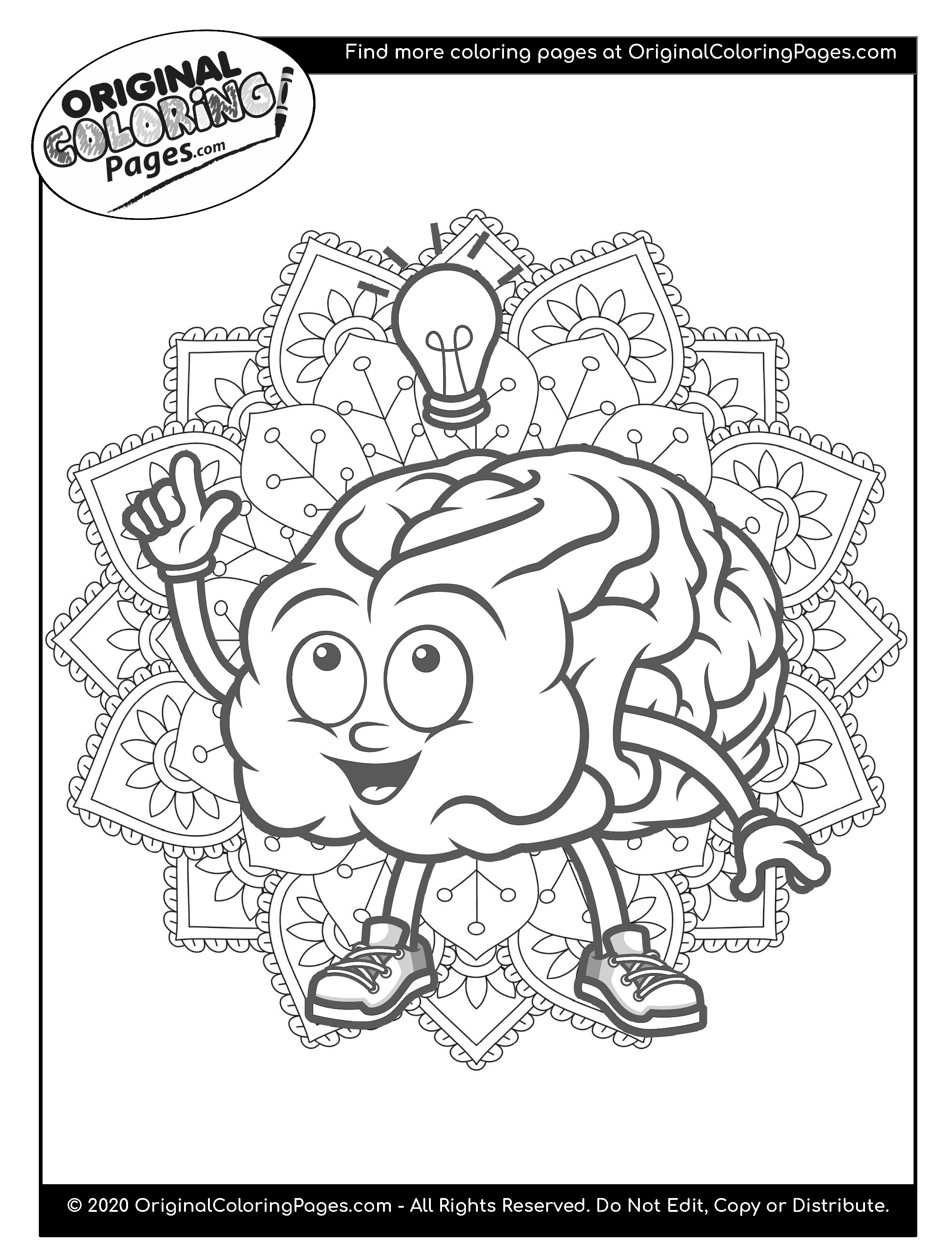 Brain Coloring Pages Coloring Pages