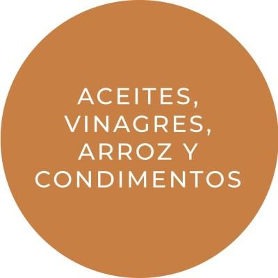 Aceites, Vinagres, Arroz y Condimentos