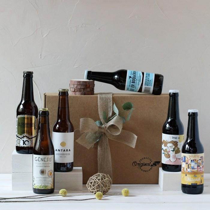Caja regalo cervezas valencia style