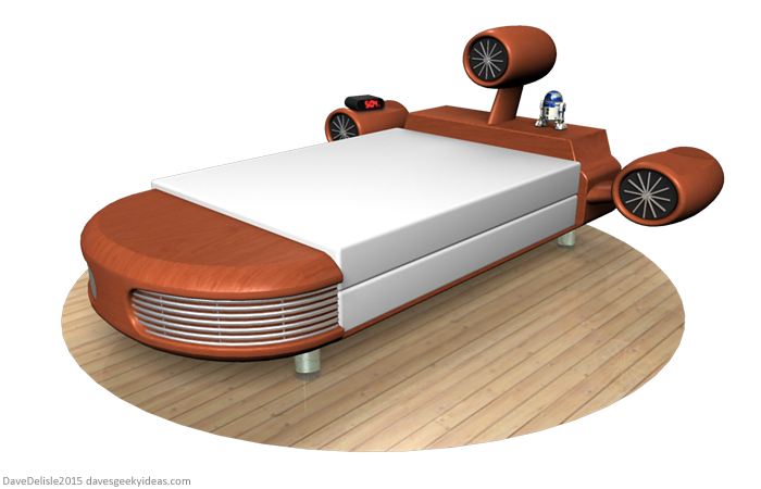 Star Wars Landspeeder Bed And Other News Daves Geeky Ideas