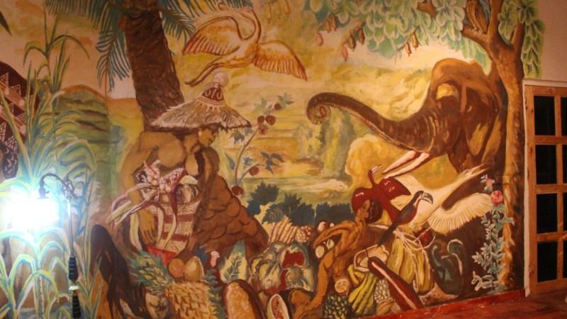 La nouvelle fresque du Bushman Café