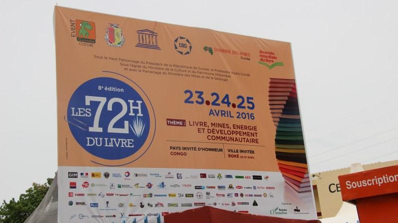 Les 72 h du Livre de Conakry – du 23 au 27 Avril 2016