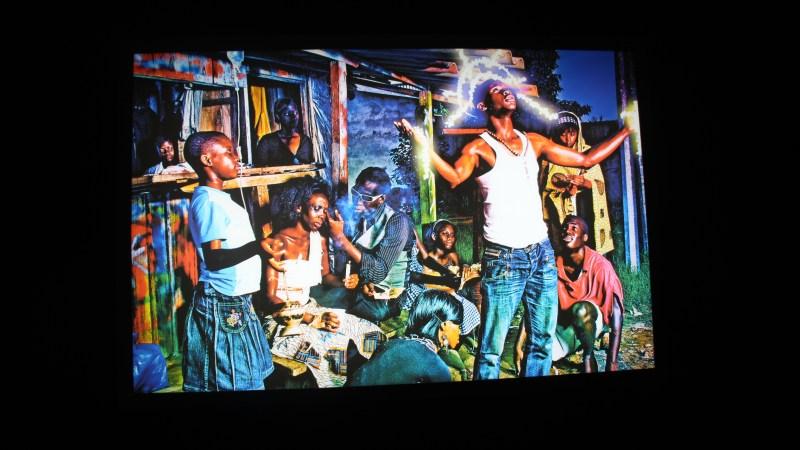 Paul Sika à l'exposition Lumières d'Afriques