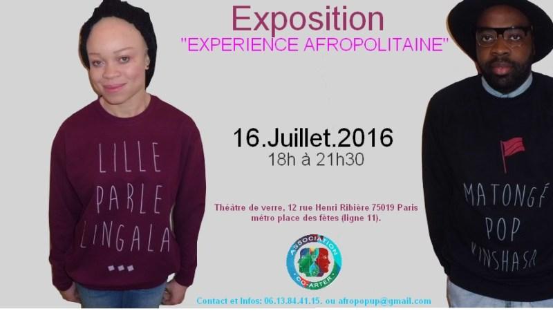 Découvrez l'Expostion « Expérience Afropolitaine » qui se tiendra ce Samedi 16 juillet 2016 à Paris