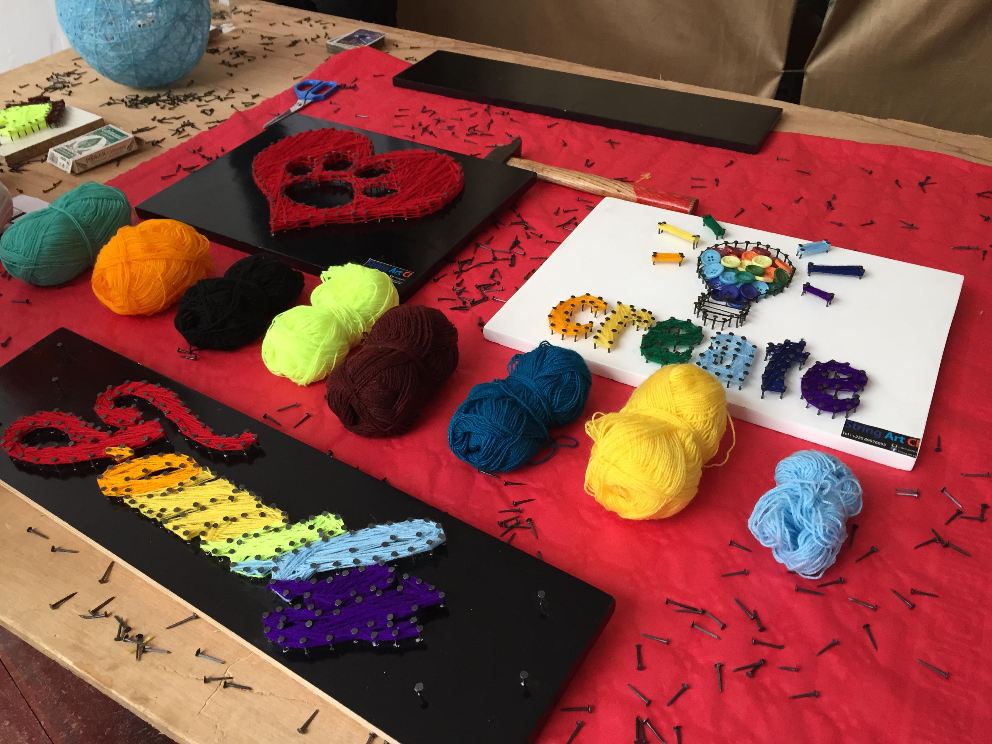 Découverte de String Art CI lors de la 2ème Exposition ventre 'Artisanat Africain'