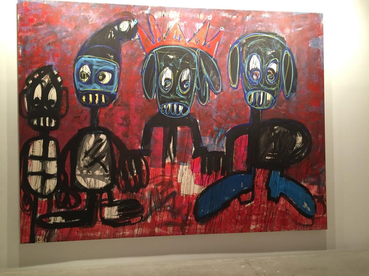 Môgô Dynasty, une exposition de Aboudia à la Galerie Cecile Fakhoury