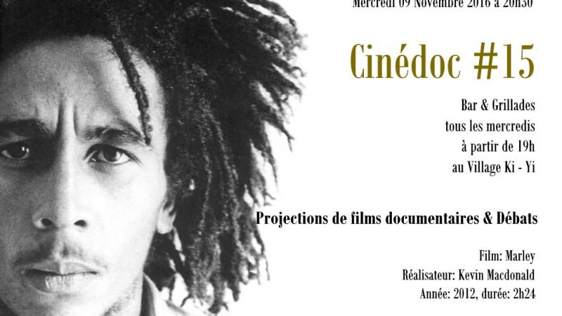 CineDoc#15 présente le film Marley de Kevin Macdonald ce mercredi 9 novembre 2016