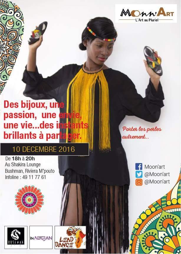 Présentation de la collection de Moonn'Art autour des perles – samedi 10 décembre 2016 à Bushman Café