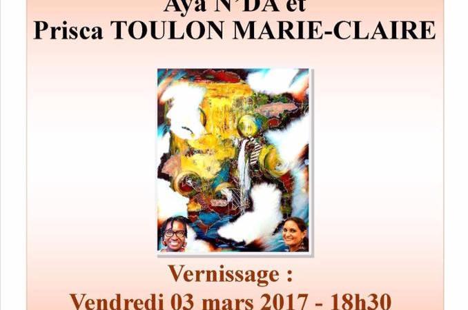 «Exubérance Afro-Caraïbe», une exposition de peinture de Aya N'da et Prisca Toulon du 03 au 24 mars 2017 à la bibliothèque Schoelcher de Fort-de-France