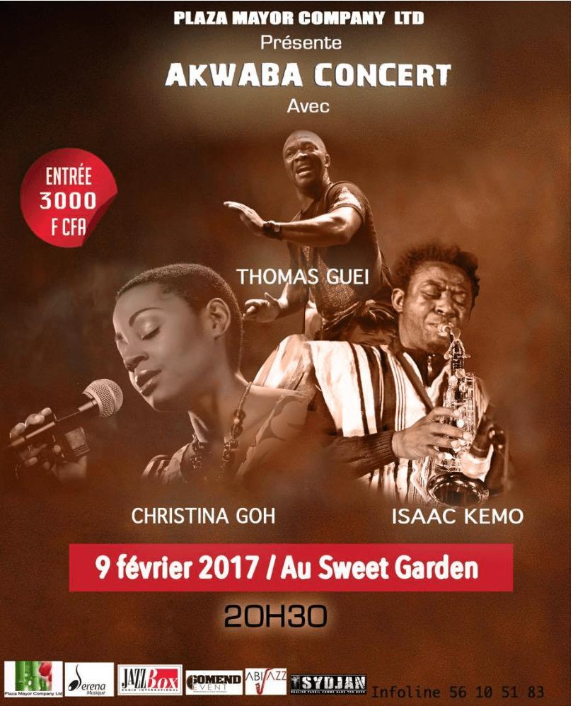 « Akwaba Concert » : la soirée de trois artistes Plaza Mayor Company Ltd. à Abidjan ce 9 février 2017