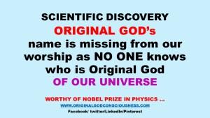 Original God is missing