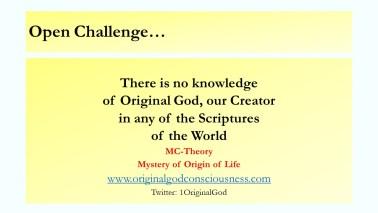 Original God's knowledge is missing in scriptures