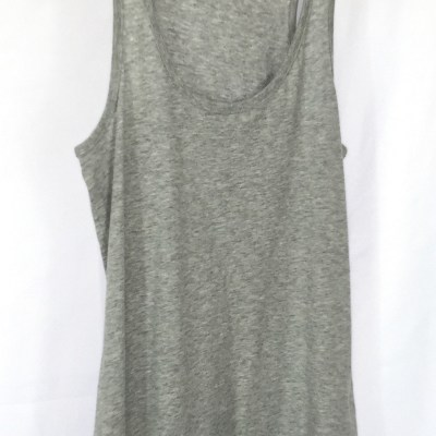 Organic Cotton Fitted Tank Top - Grey Racerback Tank Top - Fitted Racerback Tank Top