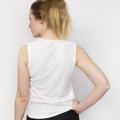 Organic Cotton Muscle Tank Top | White