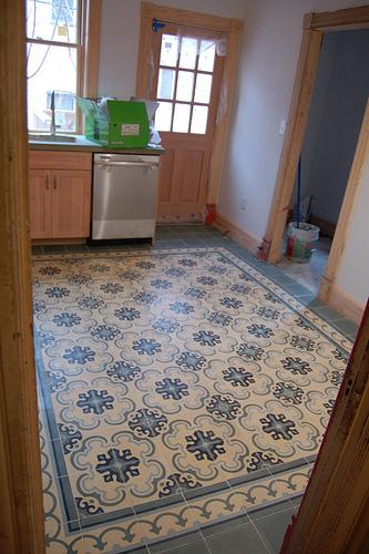 Cement Tiles Kitchen Floors