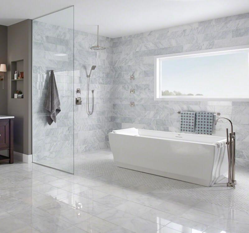 10 Gorgeous Way To Use White Marble Tile For Bathroom Cement Tiles In Stock By Original Mission Tile