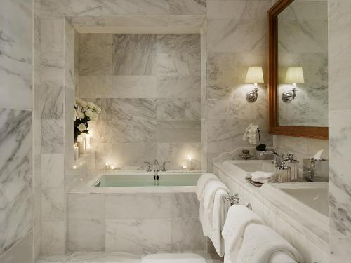 All-Over Modern Marble Bathroom