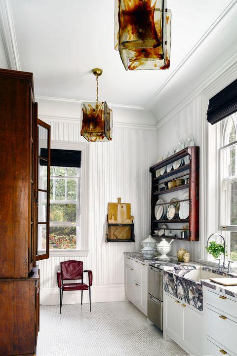 White Sculptural Kitchen