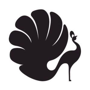 Original Moxie Peacock Logo Black