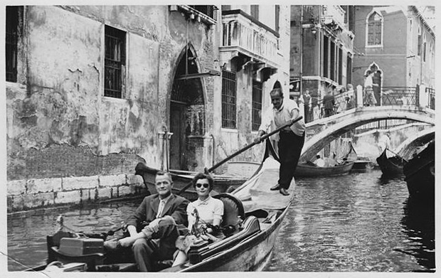 Lorraine and Mac in Venice in the late 1950s.