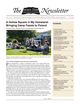 Printable version of the Sacred Harp Publishing Company Newsletter, Vol. 2, No. 1 (2.2 MB PDF).
