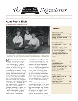 Printable version of the Sacred Harp Publishing Company Newsletter, Vol. 2, No. 2 (3.5 MB PDF).
