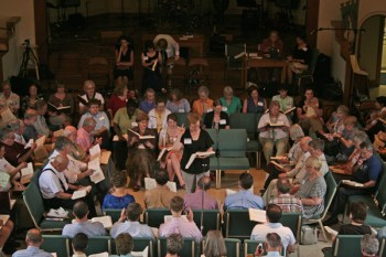 Looking down on the class at the 2007 National Convention. Photo by Jonathon Smith.